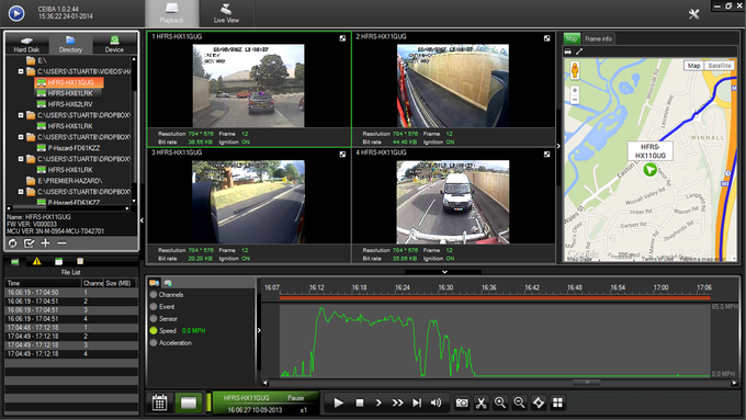CEIBA in Vehicle CCTV Replay Software