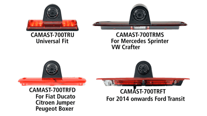 Rear brake light camera