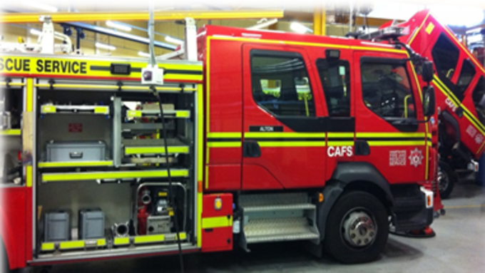 Fire appliance premier hazard manufacture and supply emergency fire tender in vehicle cctv image aloadofball Image collections